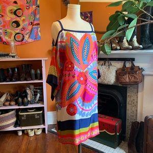 Glorious 100% Silk Mod Cocktail Dress